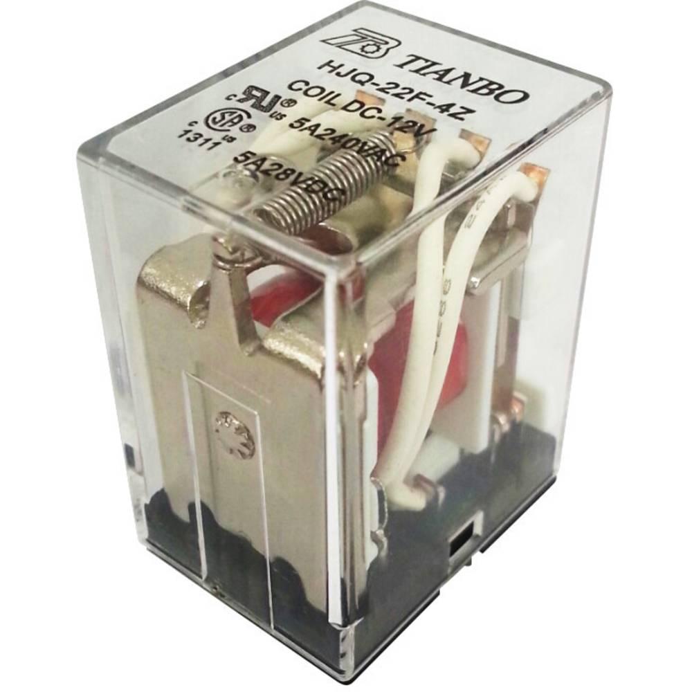 Steckrelais (value.1292892) 12 V/DC 5 A 4 Wechsler (value.1345279) Tianbo Electronics HJQ-22F-4Z -12VDC 1 stk