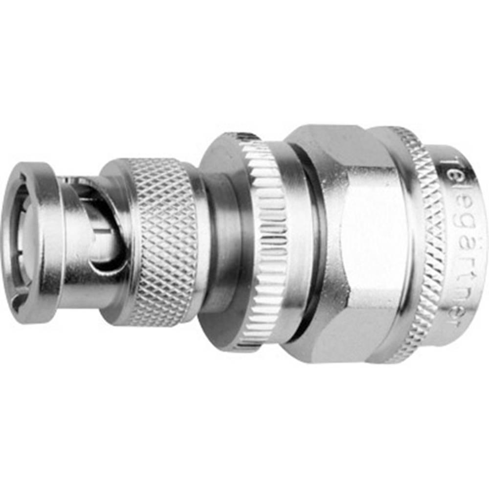 Koax-adapter BNC-Stecker (value.1390914) - N-Stecker (value.1390741) Telegärtner J01008A0090 1 stk