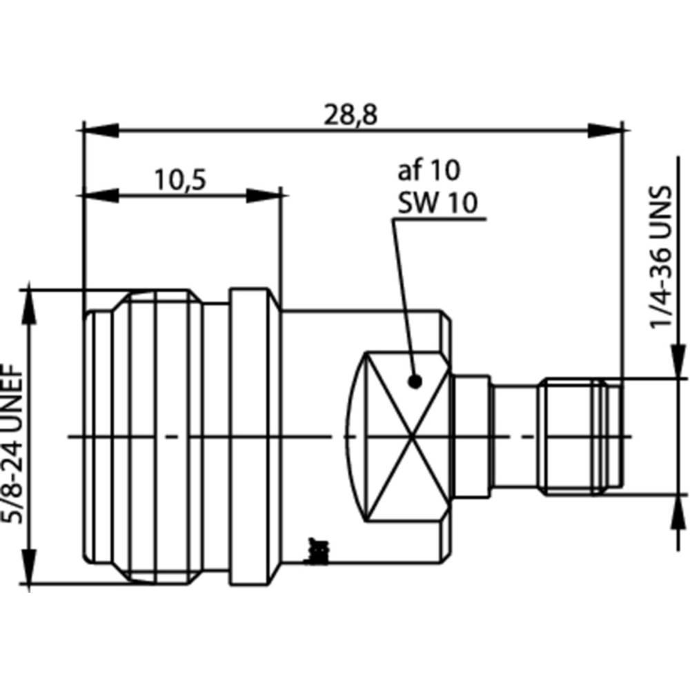 Koax-adapter N-Buchse (value.1390821) - SMA-Buchse (value.1390693) Telegärtner J01027T0017 1 stk
