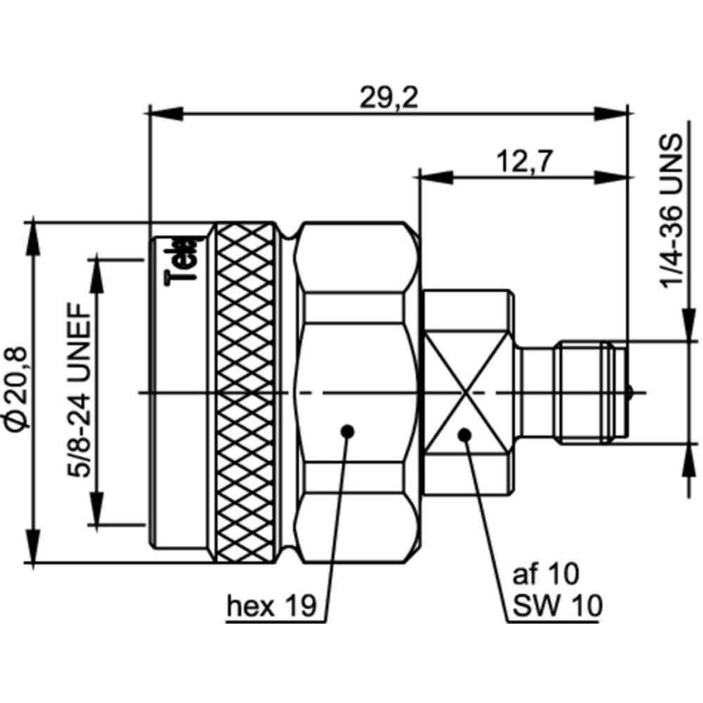 Koax-adapter N-stik - SMA-reverse-tilslutning Telegärtner J01027R0001 1 stk