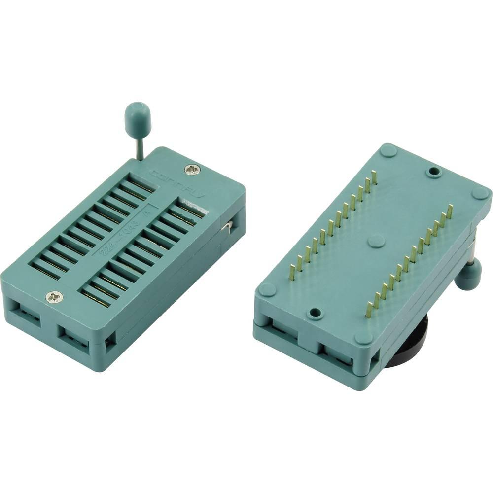 IC-testsokkel Rastermål: 15.24 mm Poltal: 24 1 stk