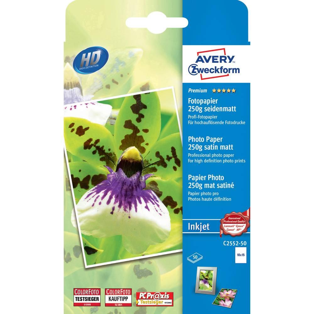 Foto papir C2552-50 Avery-Zweckform Premium Photo Paper Inkjet 10 x 15 cm, 250 g/m, 50 listova, svileni mat