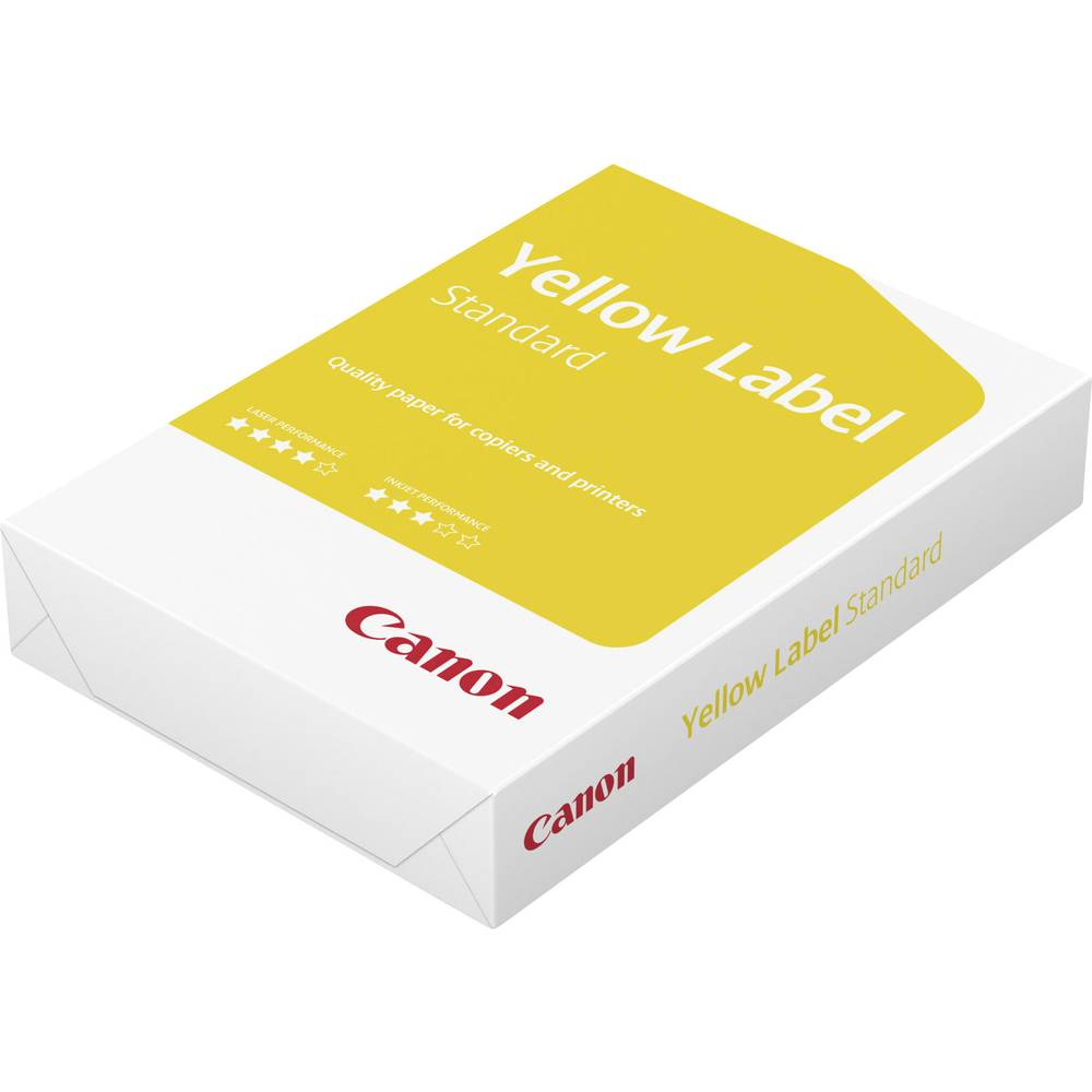 Skrivarpapper universal Canon Yellow Label Standard 96600554 DIN A4 500 ark Vit