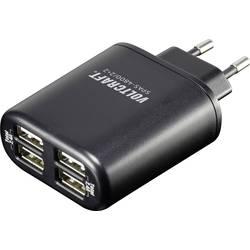 USB-polnilna vtičnica VOLTCRAFT SPAS-4800/2+2 izhodni tok (maks.) 4800 mA 4 x USB