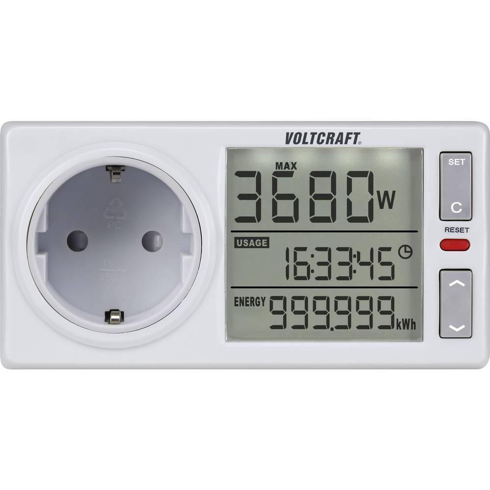 Merilnik stroškov energije VOLTCRAFT 4500ADVANCED DE integrirano otroško varovalo, nastavljiva tarifa el.energije, int. vzdrževa
