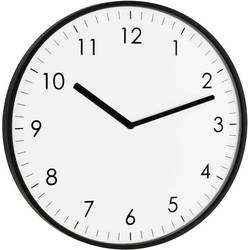 Zidni kvarčni sat TFA 60.3026.01 25.5 cm x 1.5 cm crne boje