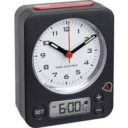 DCF Väckarklocka TFA 60.1511.01 Svart Flourescerande Visare