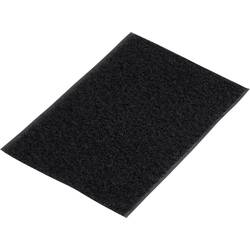 Trak z ježkom, samolepilni, flis del (D x Š) 500 mm x 100 mm črne barve Basetech 98001c375 1 kos