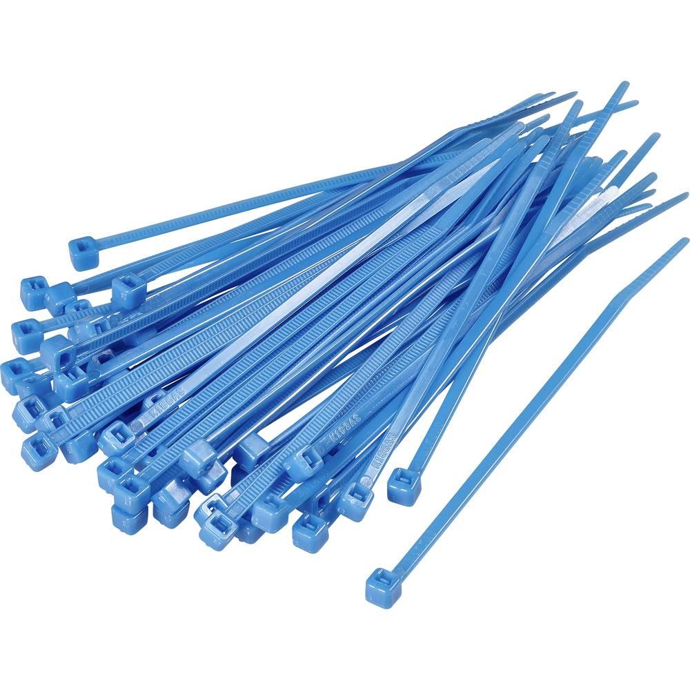 Kabelske vezice 155 mm modre barve KSS CV150S 100 kos