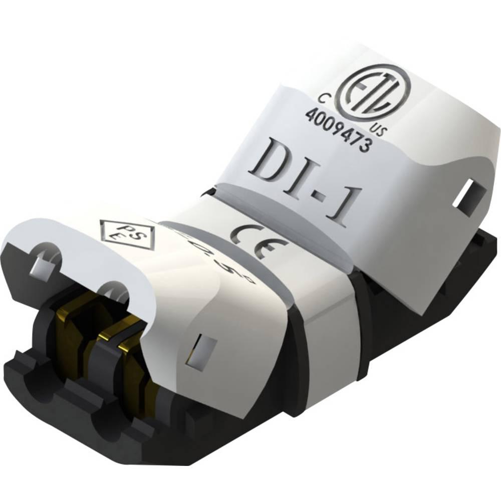 Konektor za enojni kabel, fleksibilen: 0.2-0.5 mm togost: 0.2-0.5 mm število polov: 2 1 kos bele barve
