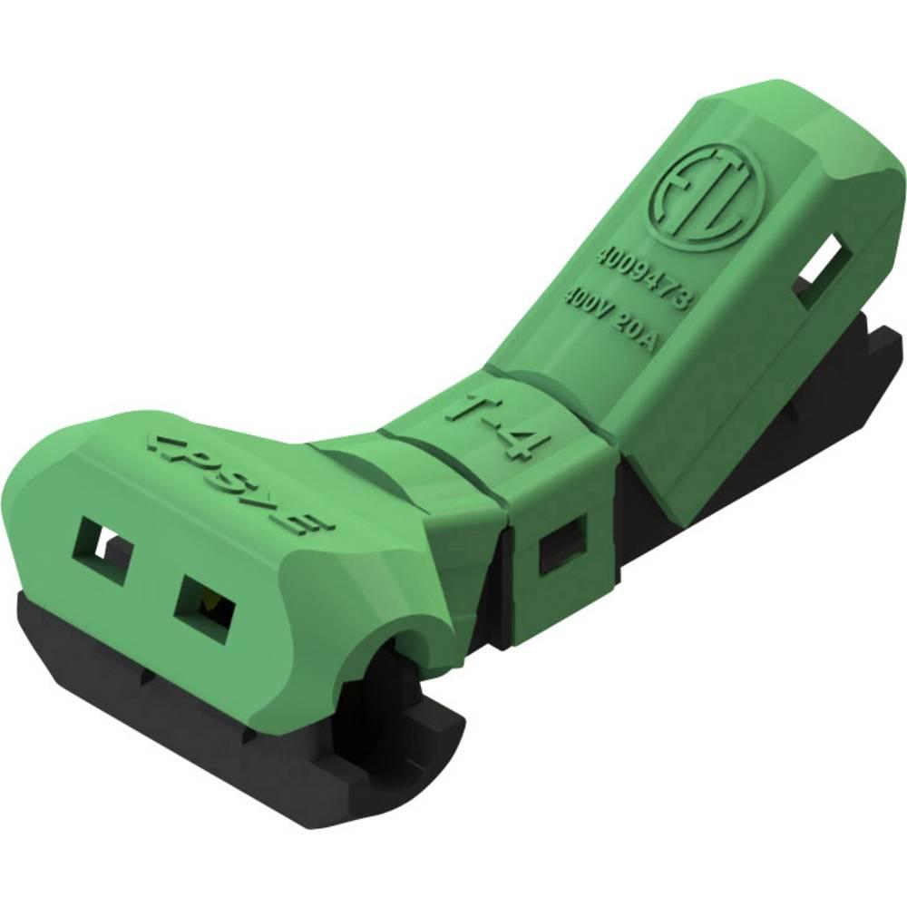 Spojni konektor, fleksibilen: -2.5 mm togost: -2.5 mm število polov: 2 1 kos zelene barve