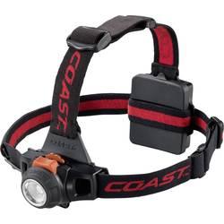 LED naglavna svetilka Coast HL27 baterijsko napajanje 330 lm 170 g rdeča, črna