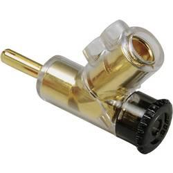 Banana konektor, utikač, ravan, promjer kontakta: 4 mm crne boje TRU Components 1 kom.