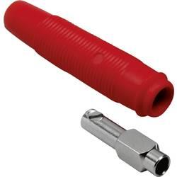 Laboratorijska utičnica, sklopka, ravna, promjer kontakta: 4 mm crvene boje TRU Components 1 kom.