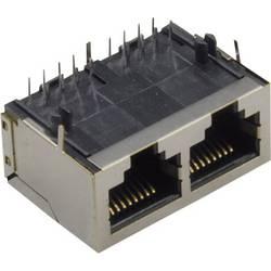 Modularna ugradbena utičnica utičnica, horizontalna ugradnja, srebrne boje TRU Components 1582445 1 kom.