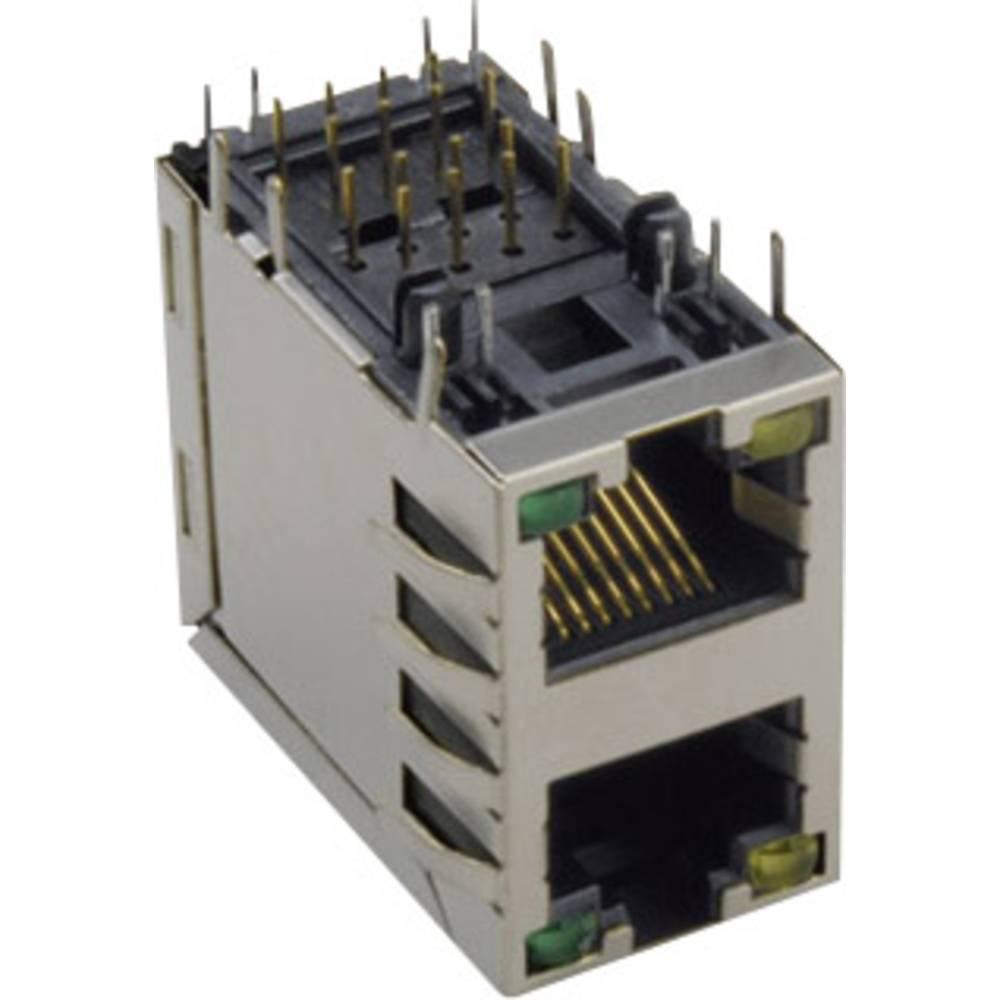 RJ45 Tilslutning, indbygning lodret BKL Electronic 143212 Sølv 1 stk