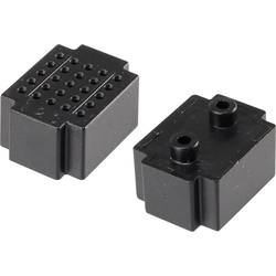 Testna pločica, crna boja, ukupan broj polova 25 (D x Š) 20 mm x 15 mm Conrad 1 kom.