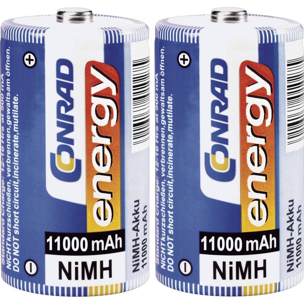 Mono (D)-akumulator NiMH Conrad energy HR20 11000 mAh 1.2 V 2 kosa.