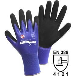 Leipold + Döhle 1169 fino pletene rukavice, nitril Aqua najlon s dvostrukom nitril prevlakom, veličina 7