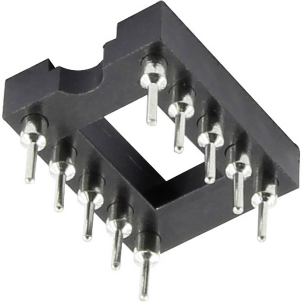 IC-fatning Rastermål: 7.62 mm Poltal: 6 1 stk