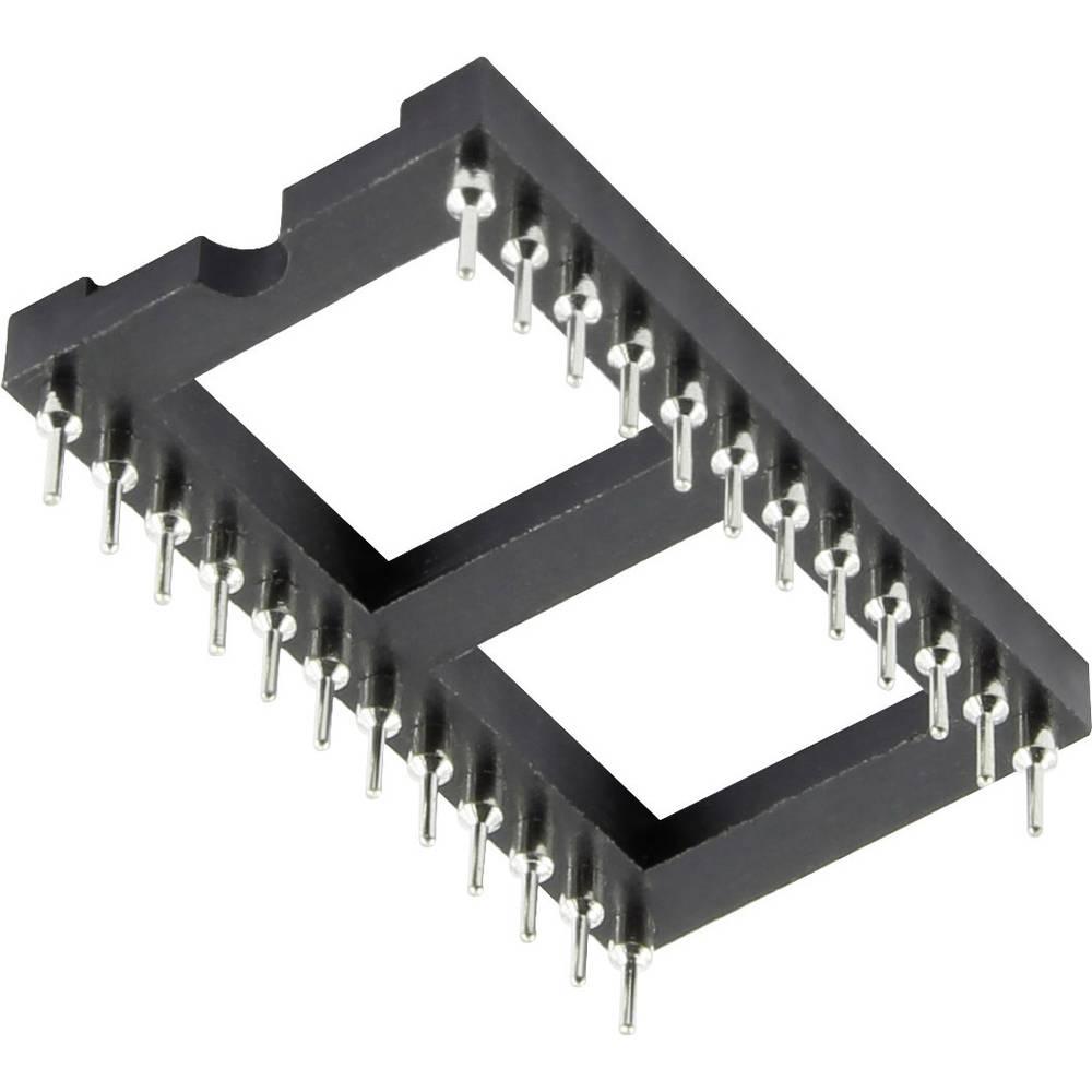 IC-fatning Rastermål: 2.54 mm, 15.24 mm Poltal: 28 1 stk