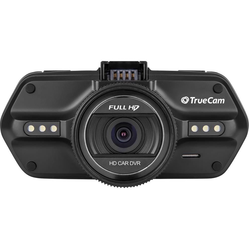 Dashcam med GPS TrueCam A5s Betragtningsvinkel horisontal=130 ° 12 V, 24 V Mikrofon, Display, Batteri
