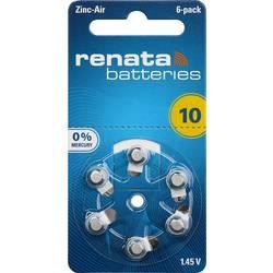 Gumbne celice ZA 10 Cink-zračni Renata Hearing Aid PR70 105 mAh 1.4 V 6 KOS