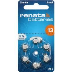 Gumbne celice ZA 13 Cink-zračni Renata Hearing Aid PR48 305 mAh 1.4 V 6 KOS