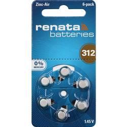 Gumbne celice ZA 312 Cink-zračni Renata Hearing Aid PR41 165 mAh 1.4 V 6 KOS