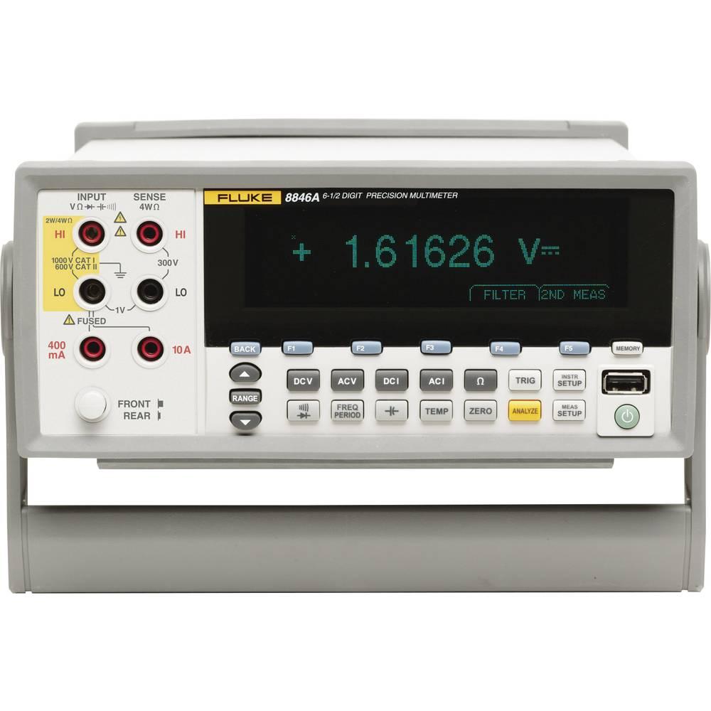 Stolni multimetar digitalni Fluke Fluke 8846A 240V kalibriran prema tvorničkom standardu CAT I 1000 V, CAT II 600 V
