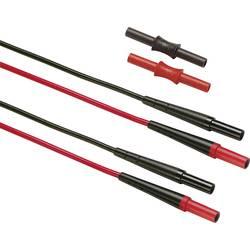 Varnostni-merilni kabelski komplet [ lamelni vtič 4 mm - lamelni vtič 4 mm] 150 cm črne barve, rdeče barve Fluke TL221