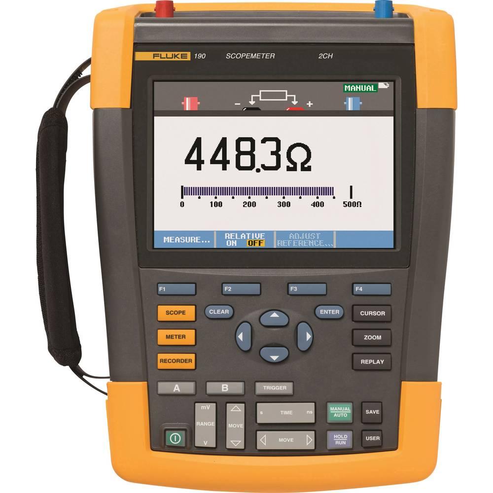 Ročni osciloskop (Scope-Meter) Fluke 190-502/UN 500 MHz 2-kanalni, ročna naprava, digitalni pomnilnik (DSO), multi-meterska funk