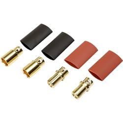 Batterikontakt Reely 8 mm förgylld 2 par