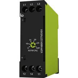 Overvågningsrelæer 208 - 480 V/AC 1 x skiftekontakt 1 stk tele V2PF480Y/277VSY01 Fasefølge, Faseudfald, Asymmetri
