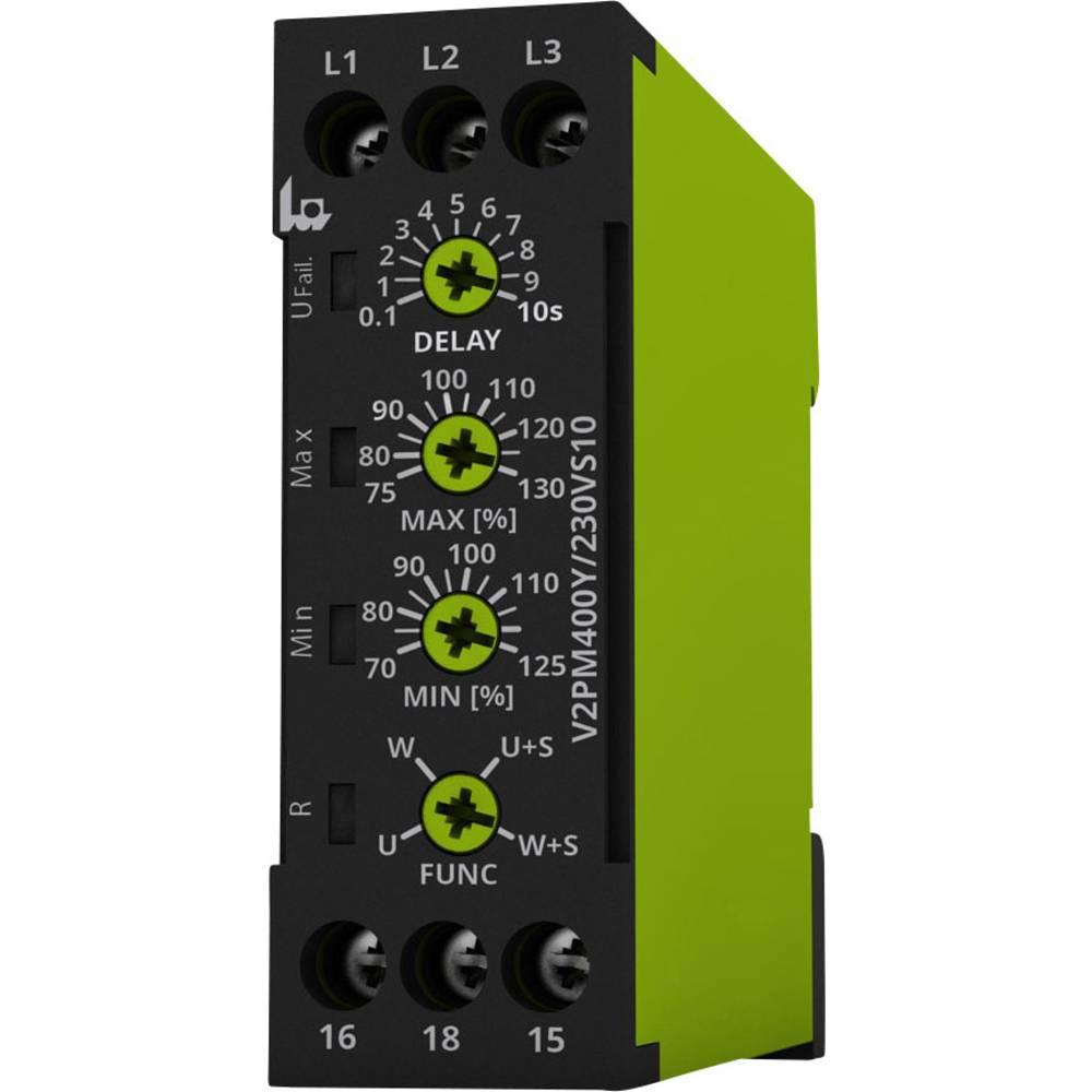 Nadzorni relej napona (3-fazni) tele V2PM400Y/230VS10 nadzor redoslijeda faza i zatajenje faze nadzora
