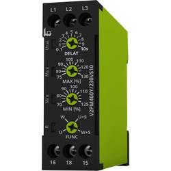 Overvågningsrelæer 230 - 400 V/AC 1 x skiftekontakt 1 stk tele V2PM400Y/230VS10 3-fase, Fasefølge, Faseudfald, Overbelastning, U