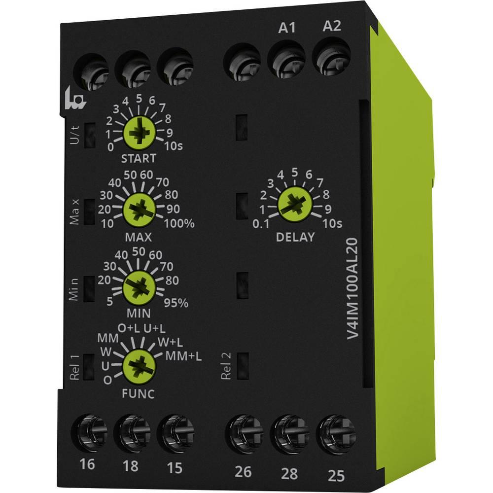 Overvågningsrelæer 24, 24 - 240, 240 V/DC, V/AC 2 x omskifter 1 stk tele V4IM100AL20 24-240V AC/DC 1-fase, Strøm, Overstrøm, Und