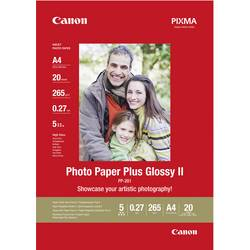 Fotopapper Canon Photo Paper Plus Glossy II PP-201 2311B019 DIN A4 265 G/m² 20 ark Glansigt