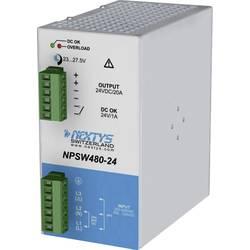 Napajalnik za namestitev na vodila (DIN letev) Nextys NPSW480-24 24 V/DC 20 A 480 W 1 x