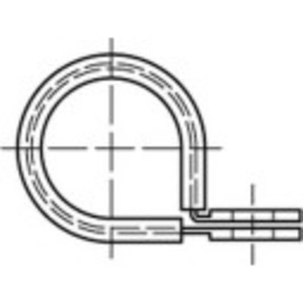 TOOLCRAFT obujmice DIN 3016 15 mm čelik, pocinčani 100 komada