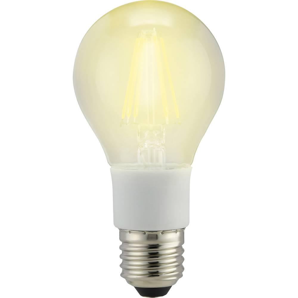 LED žarulja (jednobojna) 114 mm sygonix 230 V E27 7 W = 60 W toplo bijela KEU: A++ klasičan oblik sa žarnom niti, prigušivanje,