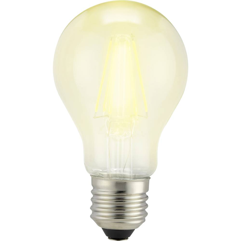 LED žarnica E27 klasična oblika 7 W = 60 W topla bela (premer x D) 60 mm x 105 mm EEK: A++ Sygonix filament 1 kos