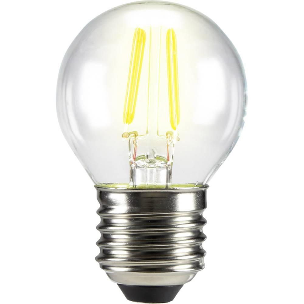 LED žarnica E27 oblika kaplje 3 W = 28 W topla bela (premer x D) 45 mm x 72 mm EEK: A++ Sygonix filament 1 kos