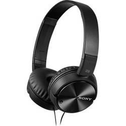 Sony MDR-ZX110NA Potovalne On Ear slušalke On Ear Zložljive, Naglavni komplet, Odpravljanje šumov Črna