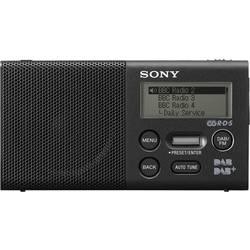Sony XDR-P1DBP Žepni radio DAB+, UKW Funkcija polnjenja baterije, Ponovno polnjenje Črna