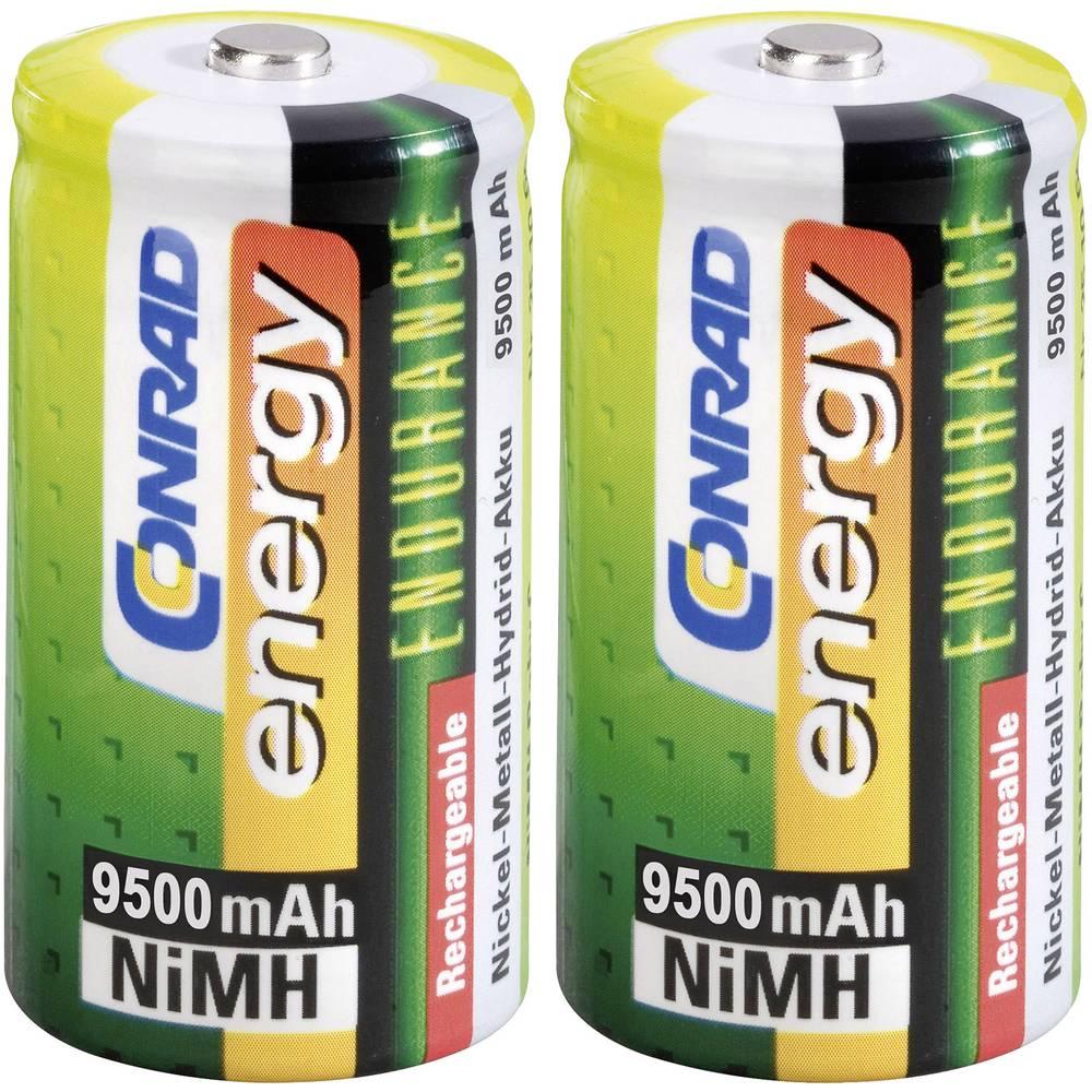 Mono (D)-akumulator NiMH Conrad energy Endurance HR20 9500 mAh 1.2 V 2 kosa