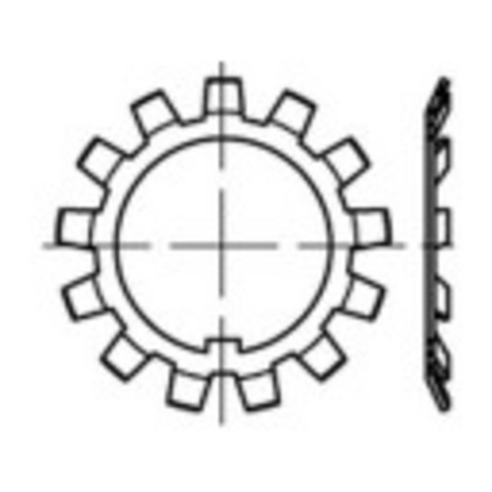 Låsplatta Inre diameter: 70 mm Ytterdiameter: 98 mm DIN 5406 Stål 10 st TOOLCRAFT 137815