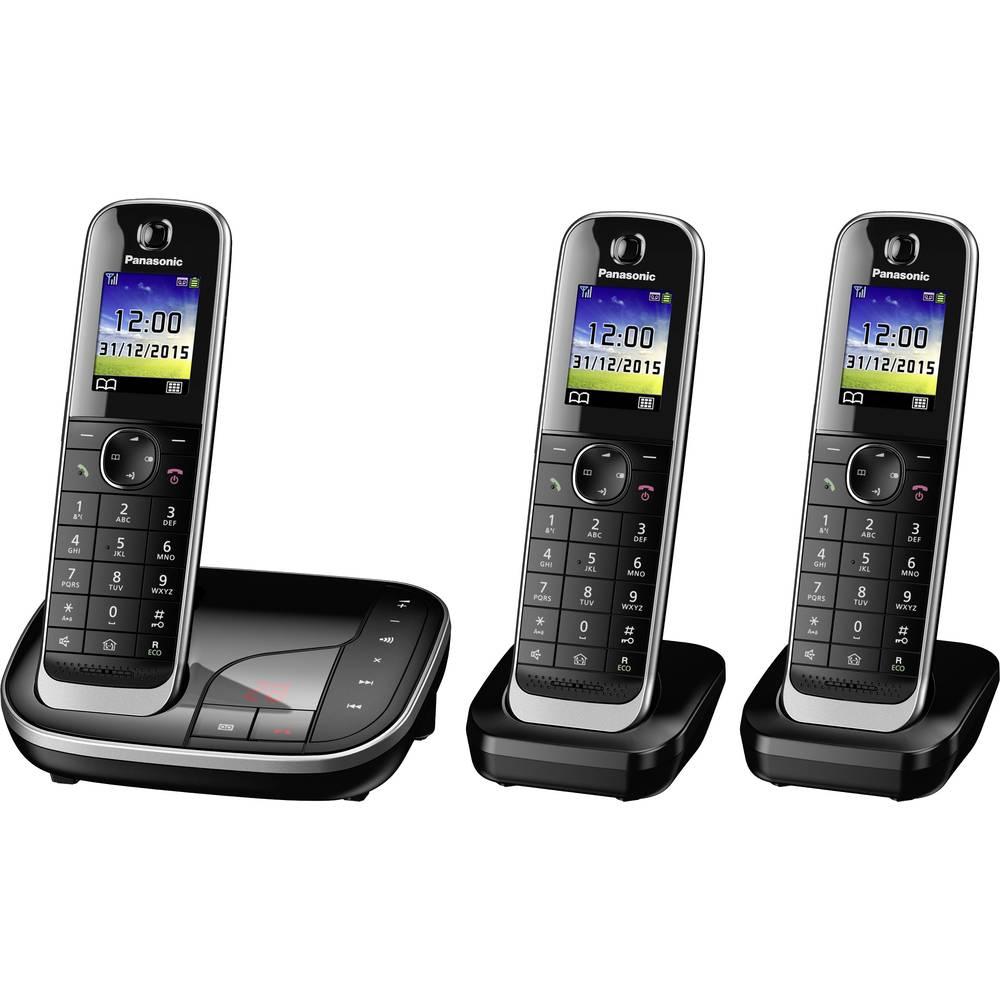 Bežični analogni telefon Panasonic KX-TGJ323GB telefonska sekretarica, telefoniranje slobodnih ruku, priključak za slušalice, crne boje