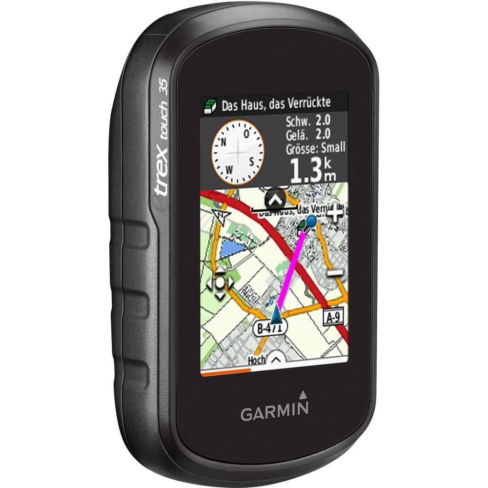 Računalo za bicikl i sport eTrex® Touch 35 Garmin uklj. TopoActive Europa, vanjska navigacija, navigacija za šetnje, navigacija za bicikl