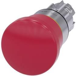 Nödstoppsbrytare, Svampknapp Siemens SIRIUS ACT 3SU1050-1HA20-0AA0 Metallfrontring, högglans Röd Drag-upplåsning 1 st